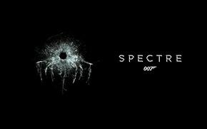 Картинка трещины, черный фон, Джеймс Бонд, 007, James Bond, пулевое отверстие, 007: СПЕКТР, SPECTRE