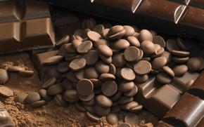 Обои food, candies, десерт, конфеты, dessert, сладкое, chocolate, sweet, еда, шоколад, какао, 1920x1200, cocoa