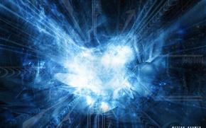 Обои метеор, энергия, взрыв