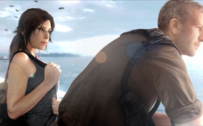 Обои Conrad Roth, мужчина, девушка, Square Enix, Crystal Dynamics, lara croft, reborn