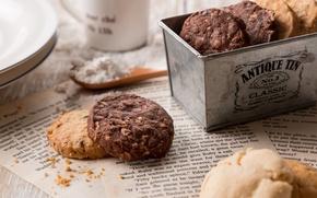 Картинка коробка, печенье, выпечка
