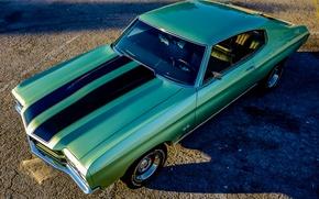Картинка ретро, Chevrolet, мускул кар, классика, Chevelle