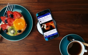 Картинка Android, Galaxy, Coffee, Samsung, Fruit, 2015, Smartphone, Food
