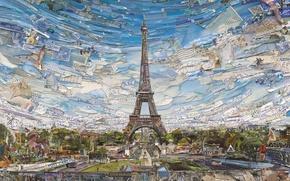 Картинка Eiffel Tower, Vik Muniz, Postcards from Nowhere, contemporary art