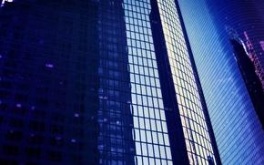 Обои стекло, здания, Окна, отражение
