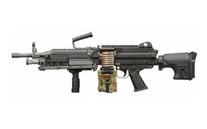 Картинка gun, USA, weapon, machine gun, ammunition, bipod, high firepower, ordnance, short barrel, camouflage, 5.56, high …