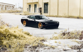 Картинка Dodge, Black, Hellcat, Wheels, Rohana, Challanger, RFX5