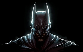 Обои batman, the dark knight, маска, art, bruce wayne