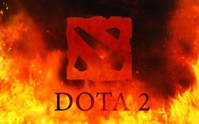 Картинка fire, logo, dota, dota 2