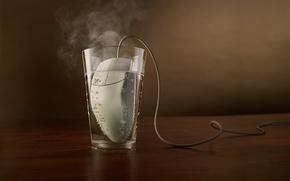 Обои стакан, Мышка, кипятильник