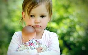 Картинка настроение, кукла, девочка, ребёнок, боке