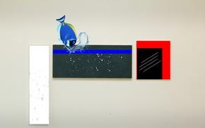 Картинка капли, фон, рыба