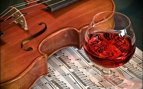 Картинка вино, скрипка, музыка