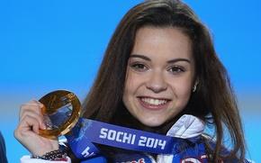 Картинка улыбка, золото, фигурное катание, медаль, золотая, РОССИЯ, Сочи 2014, XXII Зимние Олимпийские Игры, Sochi 2014, …