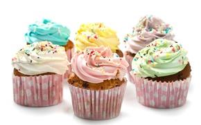 Картинка еда, сладости, крем, десерт, выпечка, кексы, посыпка