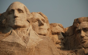 Картинка USA, United States, men, George Washington, faces, Abraham Lincoln, America, sculpture, Theodore Roosevelt, South Dakota, …