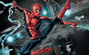 Картинка spider-man, полёт, человек паук
