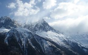 Обои снег, горы, природа