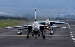 Картинка истребитель, бомбардировщик, аэродром, Panavia Tornado