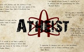 Обои атеизм, неверие, высказывания, атеист