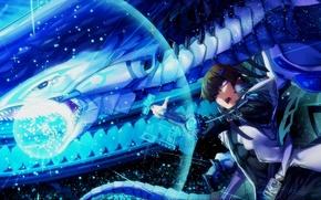 Картинка магия, дракон, аниме, арт, парень, Yu-Gi-Oh!