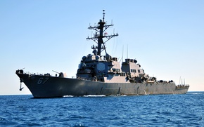 Картинка море, типа «Арли Бёрк», ВМС США, эскадренный, миноносец УРО, (DDG-67), USS Cole
