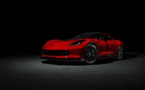 Обои chevrolet corvette, c7, car, red, корвет