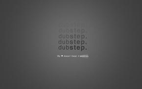 Обои минимализм, dubstep, музыка, надпись