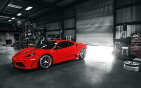 Обои ferrari, f430, scuderia, red, феррари, спорткар