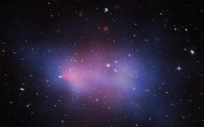 Картинка космос, скопление, галактики