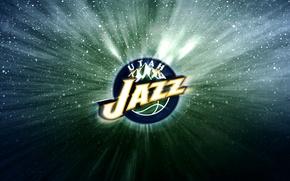 Картинка Горы, Баскетбол, Фон, Юта, Логотип, NBA, Utah Jazz, Джаз