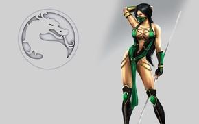 Картинка девушка, знак, тело, Mortal Kombat, шест