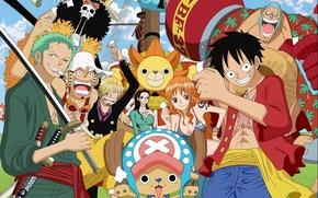 Картинка game, Chopper, One Piece, anime, katana, Robin, asian, shooter, manga, japanese, oriental, asiatic, Roronoa Zoro, …