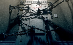 Картинка комната, игра, дверь, цепи, Silent Hill 4, 2004, The Room