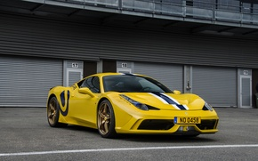 Картинка Ferrari, 458, Special, yellow