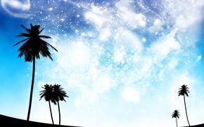 Обои небо, космос, мечты, голубой, черный, perfect dreams