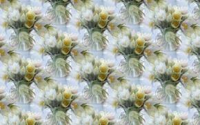 Картинка цветы, фон, текстура, весна, первоцвет