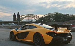 Картинка мост, McLaren, гиперкар, sports car, McLaren P1