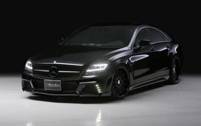 Картинка Mercedes-Benz, CLS, black, class, bison
