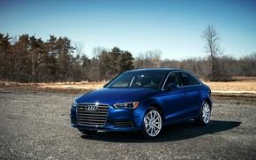 Картинка синий, Audi, ауди, blue, 2015, 2.0T