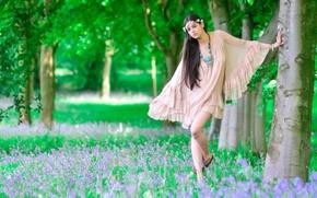 Картинка девушка, природа, поза