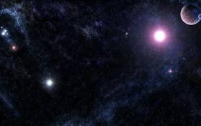Обои вселенная, планеты, звёзды