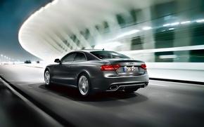 Картинка дорога, ночь, Audi, ауди, скорость, RS5, quattro, coupe