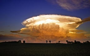 Обои свет, облака, эффект