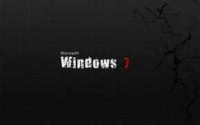 Картинка трещины, фон, windows 7, microsoft, текстуры