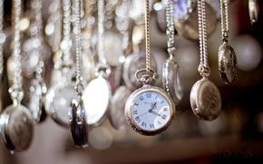Картинка время, часы, циферблат, цепочки