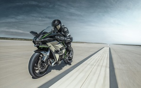 Картинка Kawasaki, moto, bike, power, motorcycle, speed, track, Ninja, H2R