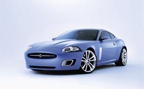 Обои белый фон, Coupe, Jaguar, Advanced, ягуар, купе