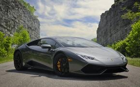 Картинка Lamborghini, Gray, LP 610-4, Huracan