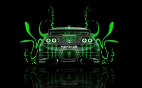 Обои Вид Сзади, ГТР, Тони Кохан, Tony Kokhan, Скайлайн, Green, Acid, GTR, Р33, Plastic, Back, Nissan, ...